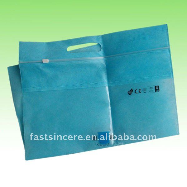 ziplock promotion nonwoven shopping carrier bag