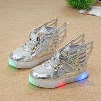 2017 Children&toddlers&baby Led Kids Light Up Sports Shoes Luminous Glowing Breathable Sneakers for Boys&Girls
