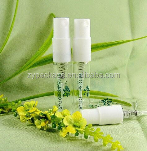 Tester glass spray bottle spray container 2ml perfume sample disposable sprayer with snap on cap
