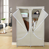 Lightweight Canvas Portable Folding Clothes Shoe Wardrobe Closet