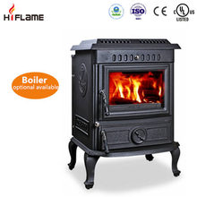 Chinese secondary combustion cast iron smokeless wood burning stove with water jacket