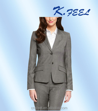 2017 Newest Design Grey Lady Wool Formal Office Pant Suits