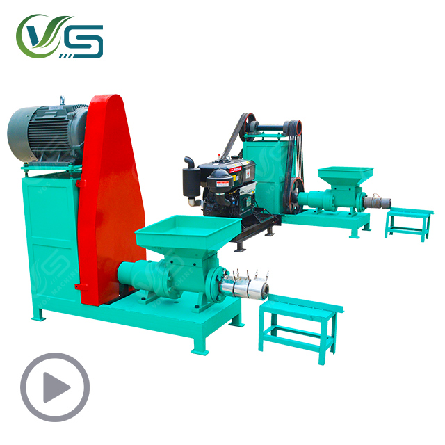 Electric/diesel wood charcoal making machine/rice husk briquette forming machine/charcoal briquette production line