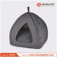 linen dog/cat house cave pet bed