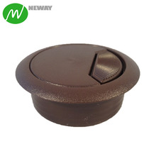 Brown Plastic Grommet Wire Cable Hole Cover