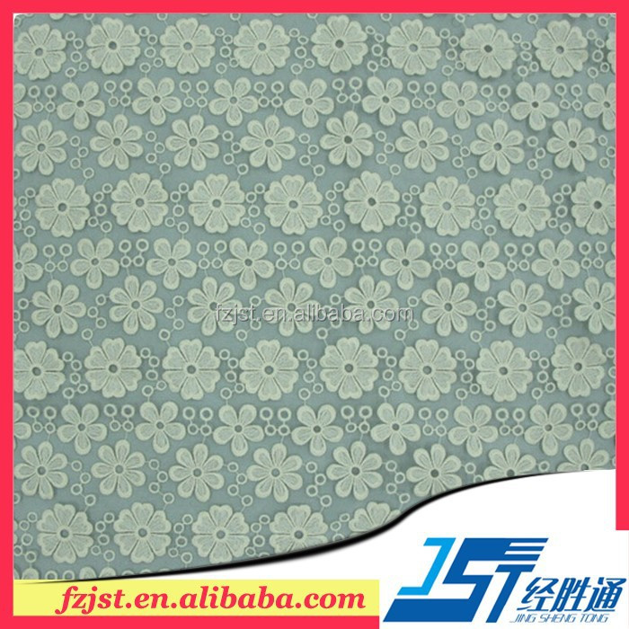 White organza lace fabric with embroidery good quality for dress