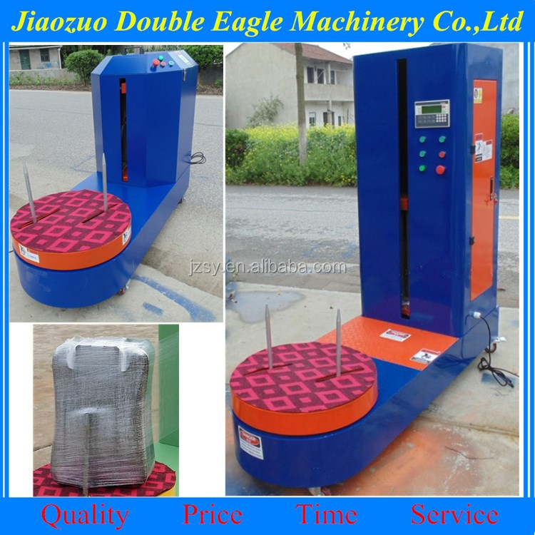 Hot sale Stretch film wrapping machine/luggage wrapper machine/automatic bottle shrink wrap machinery