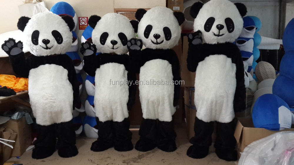 HI CE custom mascot costume for hot sale,adult panda mascot costume for carnival