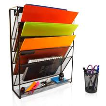 Wideny hot-sale Office stationery metal wire mesh Desk desktop door hanging wall mounted file holder organizer