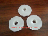 Self-lubricated small black plastic right angle gear for printer