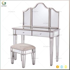 Bedroom Furniture 3 Way Mirror Glass Venetian Vanity Table