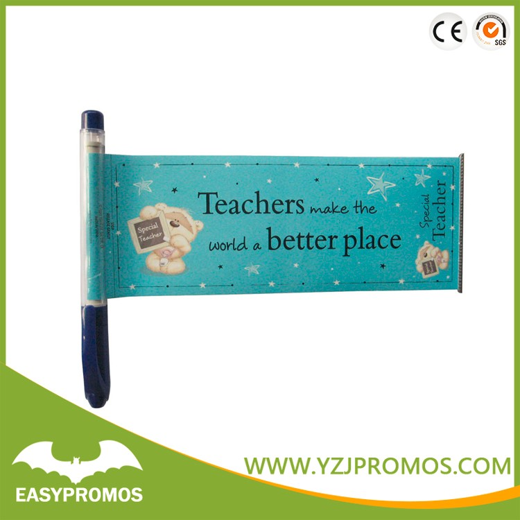 Promotional Custom Retractable Banner Pens Pull Out Banner Pen