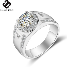 Factory Price 925 Sterling Silver Platinum Ring For Men And Women