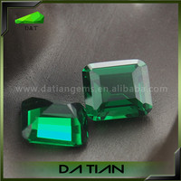 Fashionable Jewelry Green Radiant Cut Synthetic