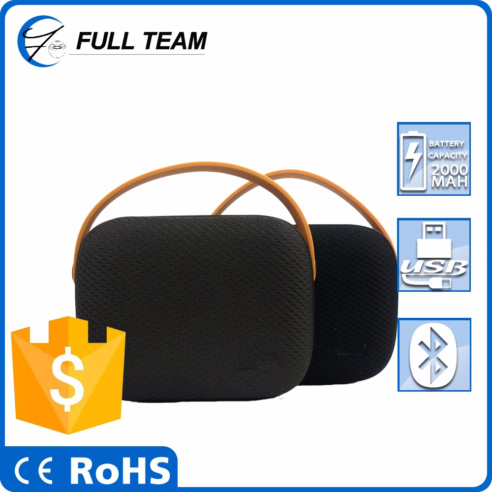 New product bluetooth rechargeable portable speaker with FM radio and handle