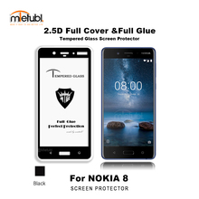Good selling mobile phone accessories 2.5D full glue glass for Nokia 8 , 9H full glass screen protector for Nokia 8