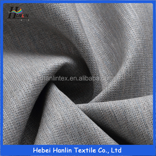 woven solid dyed tr brushed fabric/ winter clothes fabric