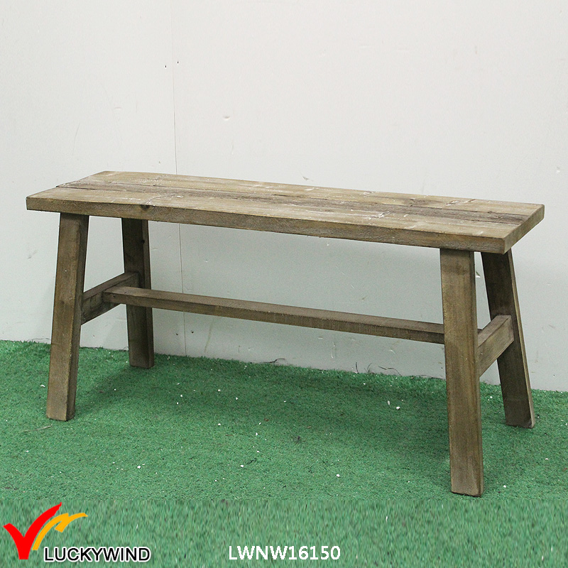 Unique antique home furniture chair Wood garden long bench