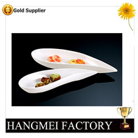Hangmei manufacture custom logo ceramic plates dishes
