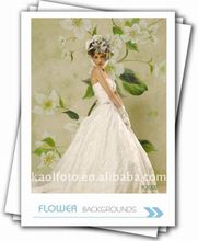 Hand painted flower background design K3000