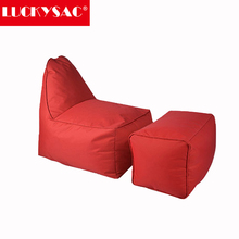 2017 trending products Red L shape kids bean bag chair game chair bean bag indoor furniture cheap bean bag cover wholesale