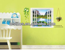 New arrival removable pvc fake window wall decal