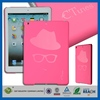 Innovative plain phone case wholesale front back pu leather smart cover for ipad air