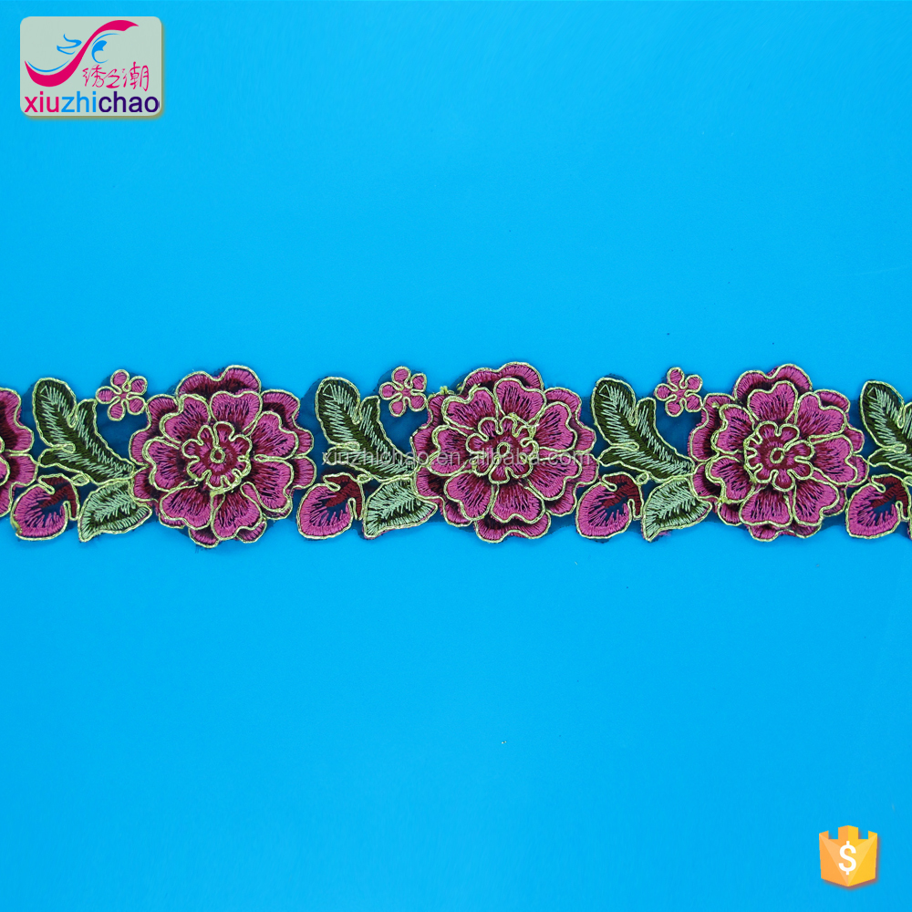 Factory design hotsale cord lace for bridal lace trim colors