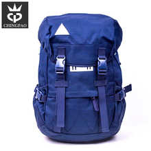 "Teen fashionable blue 17"" laptop unique oxford men's backpack bags to school"