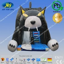 2012 Red-hot Seller black cat Inflatable Jumping Slide