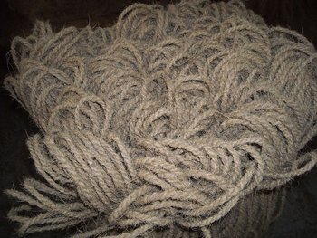 Machine twisted 2ply coir yarn