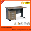 2016 metal frame wooden desk top office table, staff desk for office use