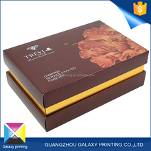 Custom Promotional gloss lamination embossed jewelry luxury premium gift hat packaging paper box