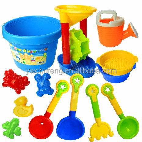 Hot Sale 13pcs/set Bath Toy Sandy Beach Tool Hourglass Sand Tools Kids Beach Toy Set Children Shovel Outdoor Fun Toy