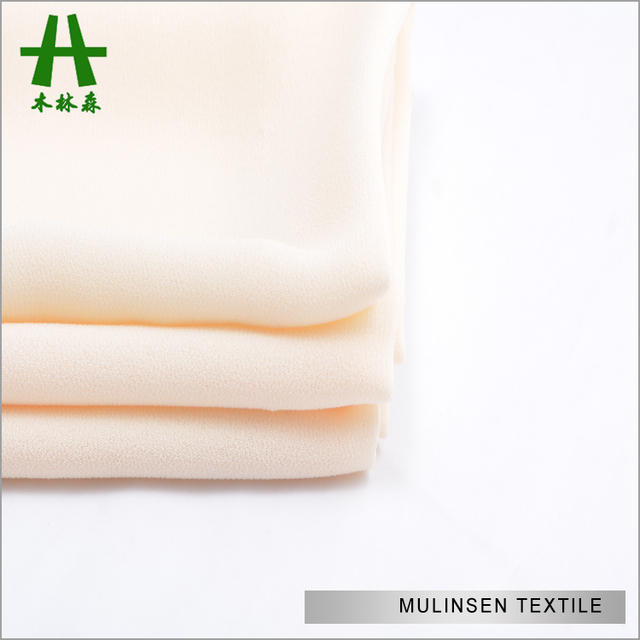 Mulinsen Textile Dyed 75D Chiffon Beaded Fabric For Dresses