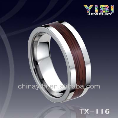 superstar accessories jewelry Tungsten wood ring wholesale stainless steel jewelry