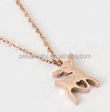 18k gold plated animal shaped necklaces