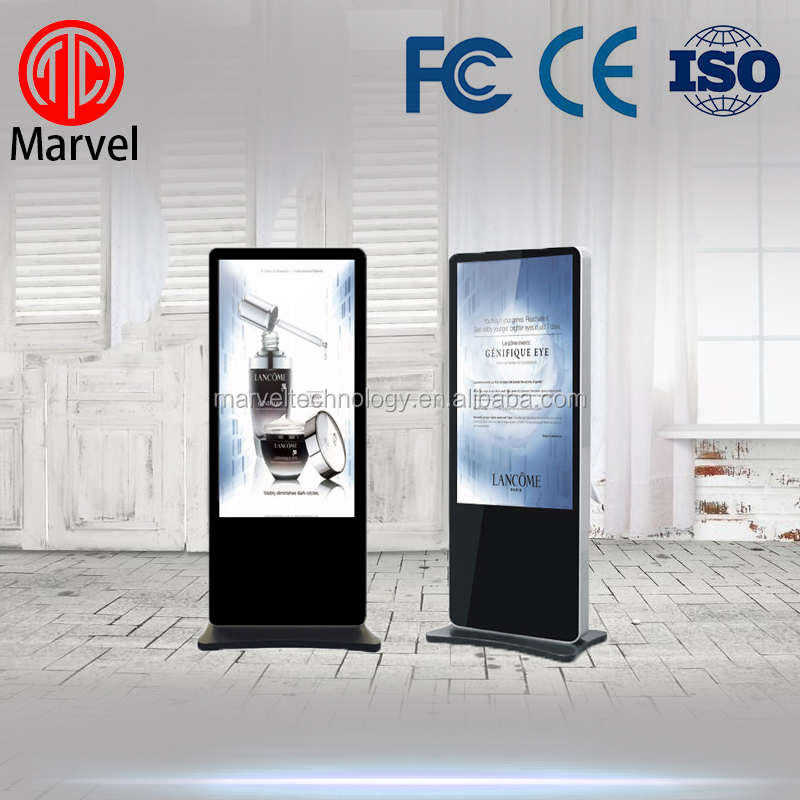 Standing flat screen lcd digital signage player with flexible lcd display