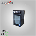 SD21 counter top mini ice cream freezer with glass front door
