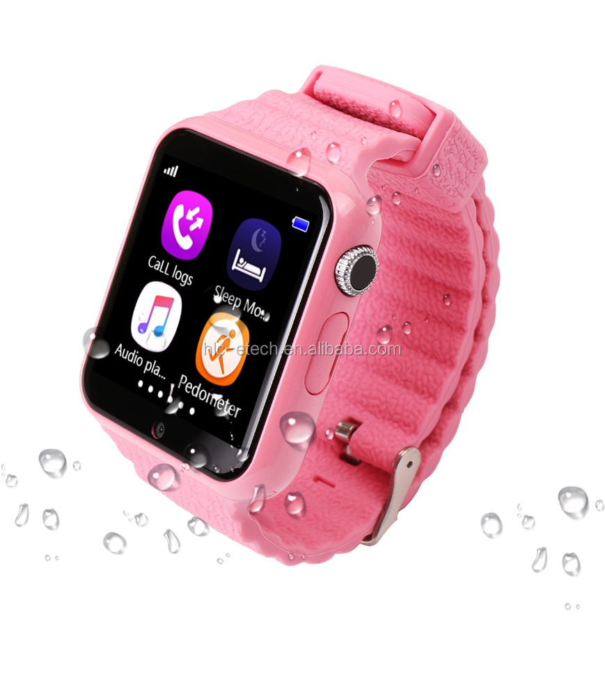 Kids Watch V7K With MTK2503 Support <strong>SIM</strong>/TF cards Smart Watch With GPS SOS LBS AGPS Waterproof Smartwatch For Iphone For xiaomi