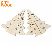 laser cut creative wood Christmas tree decoration