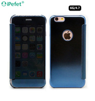 Hot Selling Ultra-Thin Electroplating colorful PC+PU case for iPhone 6/6s