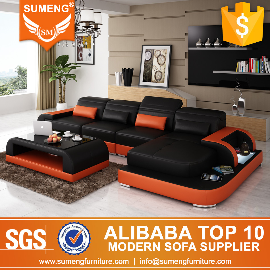 Wholesale kuka sectional home leather <strong>sofa</strong> with LED Light
