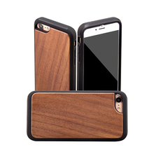 2018 Hot selling import mobile phone accessories 2 in 1 wooden cell phone case for iPhone 8 plus