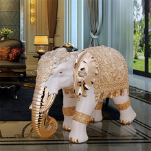 Home decoration resin fantasy figures/paint resin figure/resin figure craft luxury elephant statue