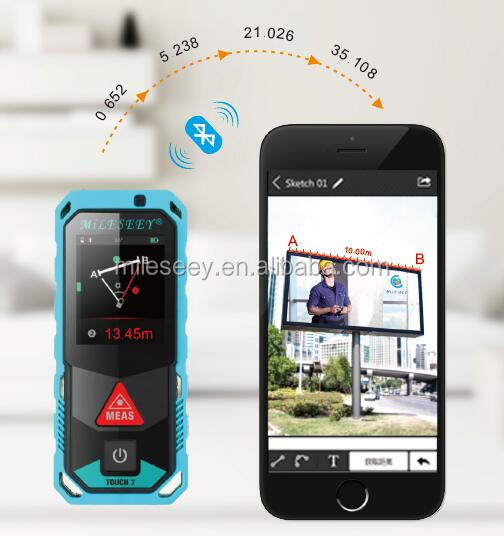Patent 3D point to point measurement colored touchscreen display laser distance meter