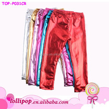 Baby Girls Fashion Bright Color Sequins Pants Baby Sparkling Pant Posh Kids Boutiaue Baby Metallic Plastic Pants for Boys