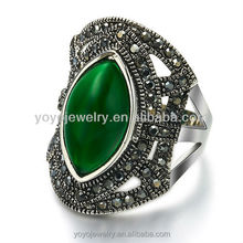 Fashion lady's gold filled emerald ring