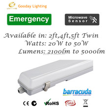 4ft 40w led double t8 tube batten light with NI-MH battery pack emergency