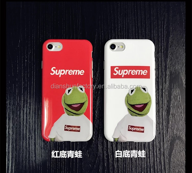 New High Quality Fashion Supreme Cases Sassy Cat Frog Phone Cases For Iphone 6 6s 6Plus 6s Plus 7 7 Plus Silicon Soft Case Cover